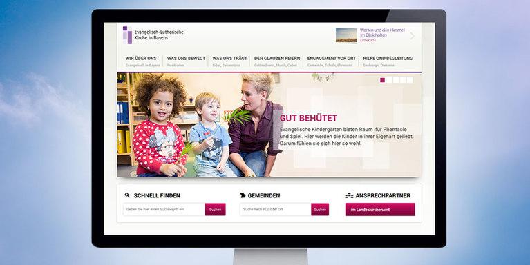 Screenshot Startseite Launch, © ELKB / Kerygma