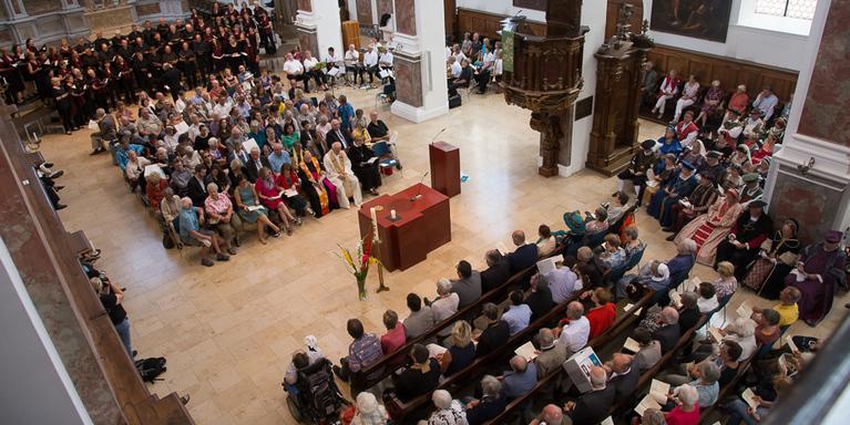 Festgottesdienst zum Hohen Friedensfest Augsburg in St. Anna, © Irmgard Hoffmann