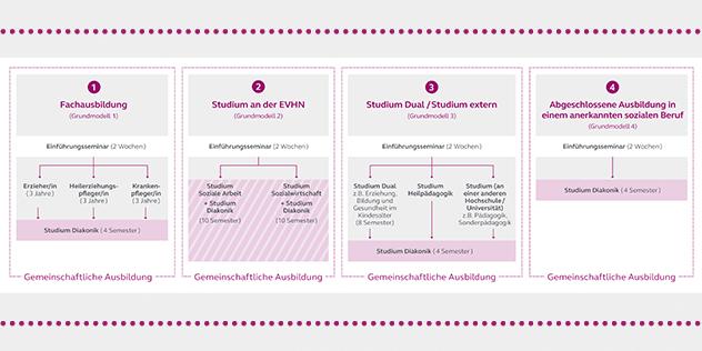 Grafik: Zugangswege und Ausbildungsmodelle