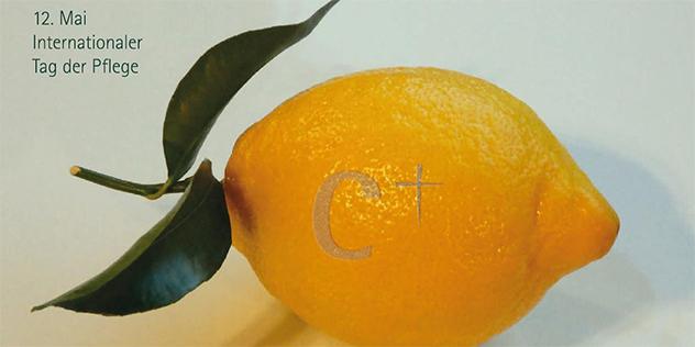 Zitrone, Motiv zur Kampagne zum Tag der Pflege 2019, © Helmut Unglaub