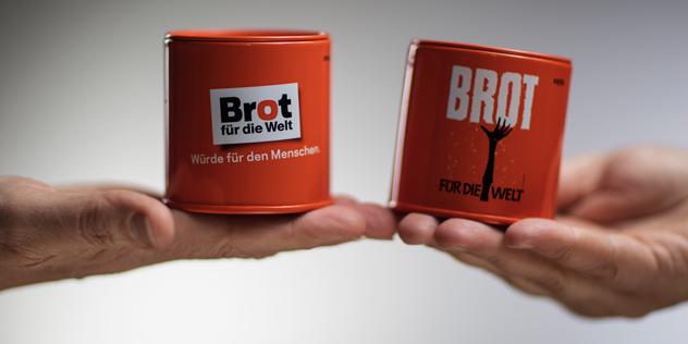 Spendendose Brot für die Welt, © Hermann Bredehorst / Brot für die Welt