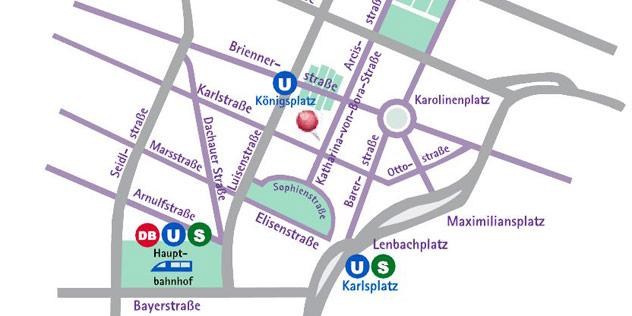 Straßenkarte von München