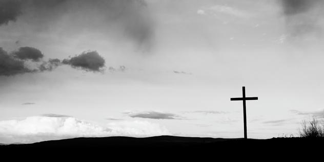 Kreuz auf einem Berg