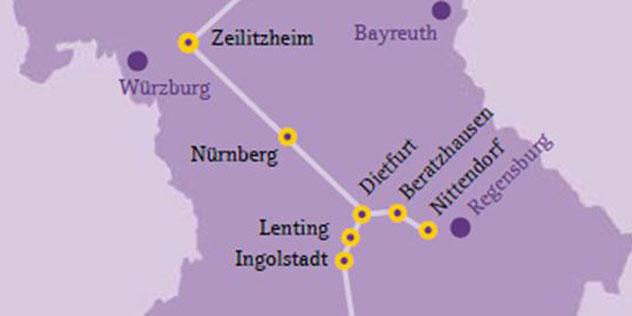 Karte von Bayern,© (c) ELKB / fgs