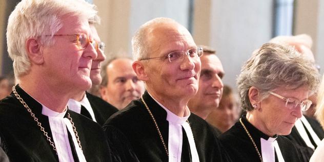 Landesbischof Heinrich Bedford-Strohm, Oberkirchenrat Detlev Bierbaum, Regionalbischöfin Susanne Breit-Kessler, © ELKB / Minkus
