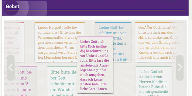 Die digitale Gebetswand auf bayern-evangelisch.de