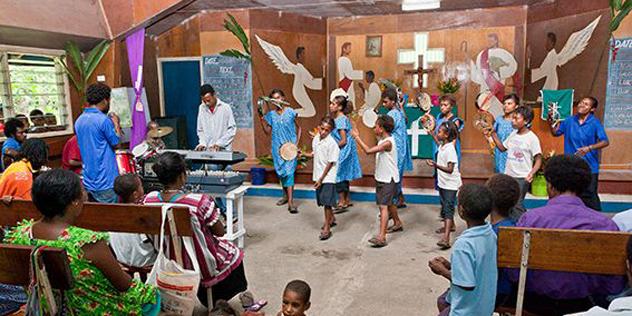 Gottesdienst in Papua-Neuguinea