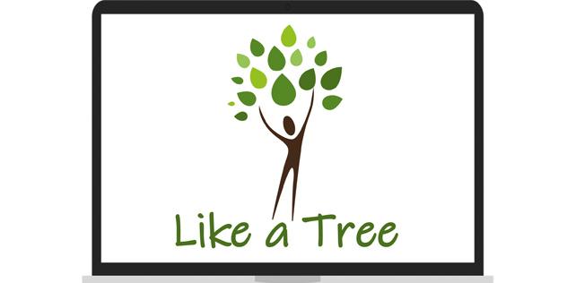 Logo Internationale Jugendbegegnung Like a Tree von Mission EineWelt in Kooperation mit der Evangelischen Jugend Bayern