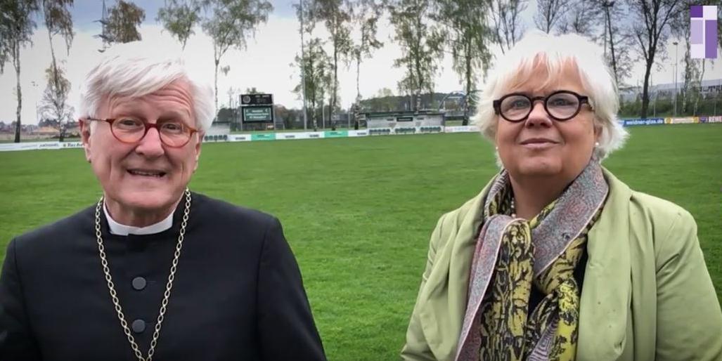 Landesbischof Heinrich Bedford-Strohm und Synodalpräsidentin Annekathrin Preidel