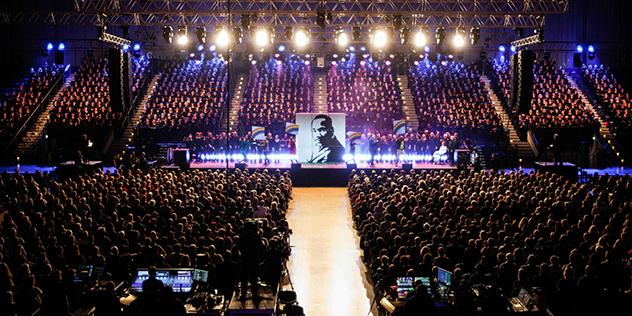 """Uraufführung des Musicals """"Martin Luther King – Ein Traum verändert die Welt""""  in Essen. , © Stiftung Creative Kirche"""