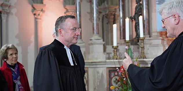 Betty Mehrer, Christian Kopp, Landesbischof Heinrich Badford-Strohm