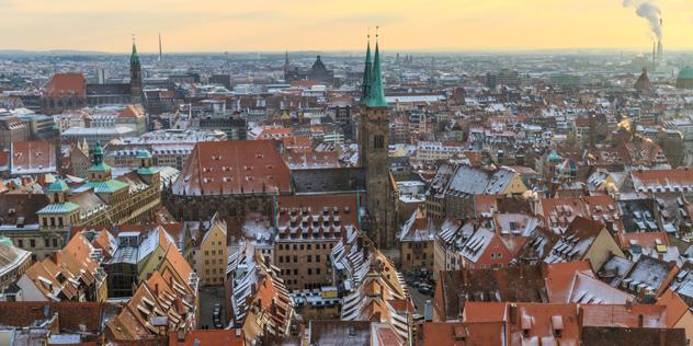 Nürnberg im Winter: Blick von der Kaiserburg