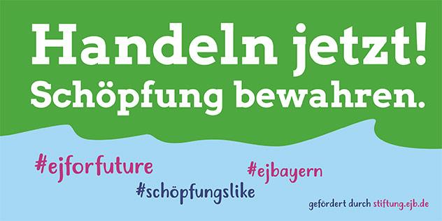 Mit der Hashtag-Aktion schöpfungslike ruft die EJB dazu auf, sich jetzt über den Sommer kritisch damit auseinanderzusetzen, wie mit der Schöpfung umgegangen wird., © EJB