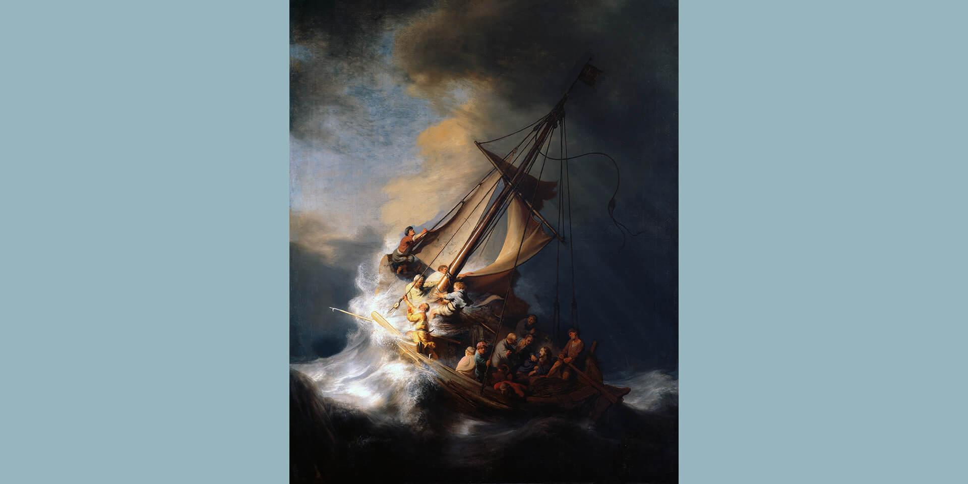 Rembrandt Die Sturm auf dem See Genezareth
